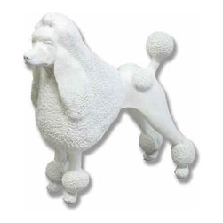 Orlandi Statuary - Fifi the French Poodle Garden Statue Multicolor - F299FIFITHEPOODLE - Shop for Statues and Sculptures from Hayneedle.com! Poodle fans with an observant eye will love the detail in this Fifi the French Poodle Garden Statue. Intricately carved this statue captures this pups detailed fur springy tail and her aristocratic posture. Hand-poured into a cast this lightweight fiberglass resin statue is weather resistant and perfect for use outdoors. Finished with a hand-applied after-coating this statue will harmonize with any natural landscape. This statue is a charming addition to the garden or to the front walkway where she can greet your guests with poise.About Orlandi StatuaryBorn in 1911 when Egisto Orlandi traveled from Lucca Italy to Chicago Illinois Orlandi Statuary quickly set the standard for excellence in their industry. Egisto took great pride in his craft and reputation and which is why artists interior designers and museums relied upon the careful details and impeccable quality he demanded. Over the years they've evolved into a company supplying more than statuary. Orlandi's many collections today include fiber stone for the garden religious statuary fountains columns and pedestals. Their factory and showroom are still proudly located in Chicago where after 100 years they remain an industry icon.