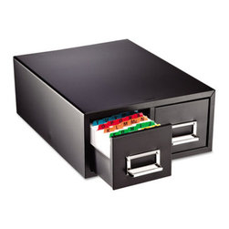 MMF POS - Drawer Card Cabinet Holds 3,000 4 X 6 Cards, 14 1/2 X 16 X 6 1/4 - All-steel cabinet with follower blocks. Drawers have combination label holders and pulls. Units are stackable for increased storage. Non-mar feet won't slip. Card Holder Type: Card File With Pull Drawer; Card Capacity: 3,000; For Card Size: 4 x 6.