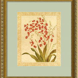 "Amanti Art - ""Red Begonias"" Framed Print by Gloria Eriksen - Perhaps you want to live in a temperate climate where you can enjoy blooms all year round instead of inside the greenhouse out back. Well, if uprooting is not an option, at least enjoy the subtle splendor of dainty red begonias in bloom as you gaze upon your wall. Custom framed and ready to hang, this print has all the makings of a year-round ray of sunshine."