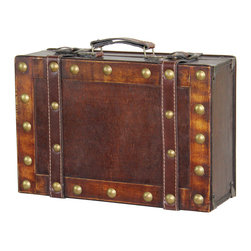 Antique Style Small Suitcase - Size: 13W x 4.5H x 8.5D inch