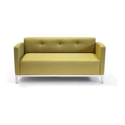 Lounge22 - Basic Sofa in Marsielle Wasabi - The three-seat design makes the perfect companion for a more flaring design object or its equally elegant companion the Basic chair. Without unnecessary details, this piece is solidly crafted from FSC-certified wood with a steel frame. The central building block for any modern living space, this Basic Sofa is modest, fundamental and simple. This sofa exudes a mix of unabashed optimality and enduring grace.