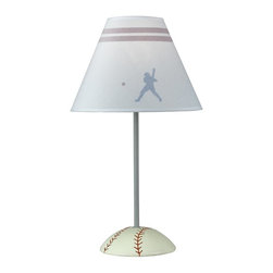 Cal Lighting - Juvenile Baseball Lamp - Requires 60W bulb (not included). Baseball lamp. Height: 21 in.. Base: 7 in.