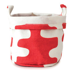 MAIKA - Recycled Canvas Bucket, Echo, Tangerine, Small - AS SEEN ON THE TODAY SHOW