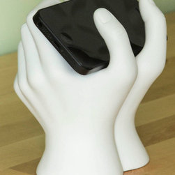The Text of Time Phone Stand - This clever phone stand makes me smile.