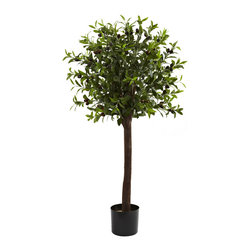 "Covered In Style Inc - 4' Olive Topiary Silk Tree - This olive tree may make you decide to press your own oil. It's that lifelike. A beautiful reproduction of the real thing, berries and all. If it's in your office, post a ""don't touch"" sign. Otherwise it could get stripped bare."