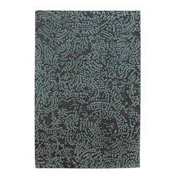 Surya - Surya Shibui SH-7413 (Brown Turquoise) 4' x 6' Rug - Julie Cohn is an artist, designer and the developer of products and designs for the corporate and home interiors markets. She is a founding partner in the multidisciplinary product firm, Two Women Boxing and surface design firm Julie Cohn Design. Formed in 1998, Julie Cohn Design focused on surface design for china and glass, carpets, rugs, wall covering, and other home accessories. Hospitality and design firms have enlisted her talents for large hotel projects for Ritz, Hyatt, Hilton and others. This Tibetan weave collection, Shibui, is rich, elegant, and urbane. Masterfully mixing wool with silk, the details and finesse are exquisite.