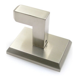 Rusticware - Utica Robe Hook, Satin Nickel - The Utica Robe Hook in Satin Nickel from Rusticware features a squared backplate.  The modern styling is sure to accentuate your bathroom's decor.