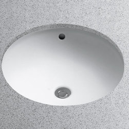 """Toto - Toto LT193G#01 Cotton  15-3/8"""" Undermount Bathroom Sink with Overflow - Product Features:Oval basin couples functionality with aesthetic appealCovered under Toto s limited 1-year warrantyConstructed of vitreous china providing a classic look and feelWall mount installation type - mounts directly to the wall which eliminates the need for a large countertop or vanityRear drain location increases area in the sink as well as storage underneathEquipped with overflow drain – works in tandem with the primary drain to prevent an overflow or spillageAll hardware needed for installation includedExtra-secure mounting assemblyToto bathroom sinks provide unmatched performance, durability and reliabilityProduct Technologies / Benefits:SanaGloss Ceramic Glaze: This innovation, which Toto has trademarked to almost all of their sinks, provides a solution to build-up on the surface of the sink. SanaGloss seals the porcelain surface with an ionized barrier, creating a super-smooth surface that prevents particles from adhering to ceramic; meanwhile a catalyzed ion barrier actually repels particles away, keeping the toilet looking clean and new for years to come. Whether it is used in a commercial or residential application, SanaGloss will make sink maintenance a breeze.Product Specifications:Overall Width: 19-5/8"""" (measured from the back outer rim to the front outer rim)Overall Length: 22-7/8"""" (measured from the left outer rim to the right outer rim)Basin Width: 13-1/4"""" (measured from the back inner rim to the front inner rim)Basin Length: 20-1/2"""" (measured from the left inner rim to the right inner rim)Installation Type: Wall MountNumber of Faucet Holes: 1Drain Outlet Connection: 1-1/4""""About Toto:For over 90 years Toto has been producing superbly designed, high-perfor"""
