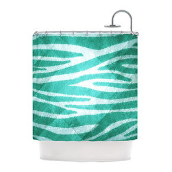 "Kess InHouse - Nick Atkinson ""Blue Zebra Print Texture"" Shower Curtain - Finally waterproof artwork for the bathroom, otherwise known as our limited edition Kess InHouse shower curtain. This shower curtain is so artistic and inventive, you'd better get used to dropping the soap. We're so lucky to have so many wonderful artists that you'll probably want to order more than one and switch them every season. You're sure to impress your guests with your bathroom gallery in addition to your loveable shower singing."