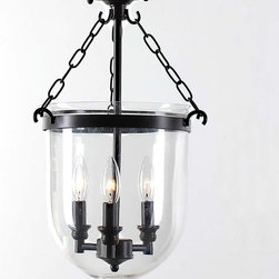 None - Antique Copper Glass Lantern Flush Mount Chandelier - Update your home decor with this antique copper glass lantern mount chandelier. Constructed with solid iron and glass, this chandelier is both elegant and classy and would be a great addition to any room.