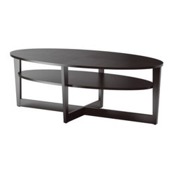 Ehlén Johansson - VEJMON Coffee table - Coffee table, black-brown