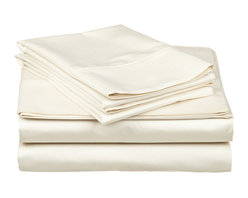 1000 Thread Count Cotton Rich Twin XL Ivory Sheet Set - Cotton Rich 1000 Thread Count Twin XL Ivory Sheet Set