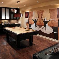 Eclectic Basement by Regina Sturrock Design Inc.