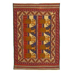 eSaleRugs - 6' 5 x 9' 1 Pictorial Sumak Rug - SKU: 22139486 - Hand Woven Pictorial Sumak rug. Made of 100% Wool. Brand New.