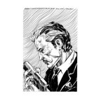 """Big Boss Character Profile (Original) by Cristian Aluas - Profile ink drawing on paper of """"Big Boss"""" comic book character."""