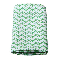 Mia + Finn - Izia Ivy Napkins (set of 4) - Ideal for both formal and casual occasions, this festive set of four napkins is made of machine-washable cotton poplin, and features a pattern that's block-printed by hand. The subtle variations that result are a hallmark of this age-old process, and only add to the napkin's spirited feeling.