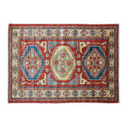 Oriental Rug, Hand Knotted 100% Wool High Quality Kazak 3'X5' Rug SH11357 - This collections consists of well known classical southwestern designs like Kazaks, Serapis, Herizs, Mamluks, Kilims, and Bokaras. These tribal motifs are very popular down in the South and especially out west.