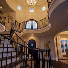 Mediterranean Staircase by Scarlett Custom Homes & Remodeling