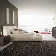Modern Platform Beds Pavo Leather Platform Bed By Rossetto