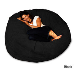 None - 5-foot Soft Micro Suede Beanbag Theater Sack Chair - This 5-foot theater sack is an ultra comfortable foam bag chair that has become the standard for home theaters and basements.This sack comes with incredibly soft, durable micro suede cover and isfilled with the softest shredded furniture foam.