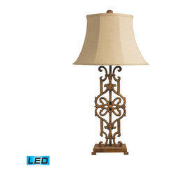 Dimond Lighting - Dimond Lighting Iron Relic Table Lamp in Albion Bronze - LED Offering Up To 800 - Table Lamp in Albion Bronze - LED Offering Up To 800 Lumens belongs to Iron Relic Collection by Dimond Lighting Lamp (1)