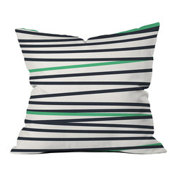 DENY Designs - DENY Designs Khristian A Howell Crew Stripe Cool Throw Pillow - Let's make throw pillows cool again. We know you'll love the DENY Designs Khristian A Howell Crew Stripe Cool Throw Pillow as much as we do! With black and green stripes against a white background, each pillow uses a fade-resistant special dye printing process for long-lasting color and comfort at home. Based out of Denver, CO, DENY works with artists and art communities from all over the world to create custom home decor accessories just for you. Transform your life from ordinary to extraordinary instantly!Custom printed to orderFade resistantWoven polyester coverConcealed zipper6-color dye processKhristian A Howell collection