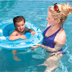 SwimWays - SwimWays Baby Spring Float - 30 in. - 11608 - Shop for Floats from Hayneedle.com! This SwimWays Baby Spring Float - 30 in. offers fun and security that ensure baby's first experiences in the pool are entertaining and safe. The float features a mesh play space for toys and splashing while a low seat provides a secure center of gravity. Recommended for babies 9 to 24 months old the device folds for easy storage and the set includes a carrying bag.About SwimWaysBased in Virginia Beach VA SwimWays is a leader among recreational water products. Mindful of safety and care of kids SwimWays help teach kids to swim with innovative pool toys for little ones and the company is a corporate partner and major contributor to Operation Smile. SwimWays' mission is to provide entertaining fun products that are the best value quality and style. They're making free time more fun through innovation.
