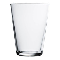 Iittala - Kartio Tumbler, Set of 2, 13.5 Oz. Clear, Clear - Clean lines let the beverage — and your flawless style — speak for itself. A study in simplicity, this tumbler holds 13 1/2 ounces, so you can pour yourself a nice, cool drink of tasteful understatement.