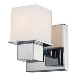 Lexington 1LT by Alico Bathroom Sconce - Great price and contemporary good looks. We often like to mix contemporary or modern sconces in traditional baths, it creates unexpected contrast.