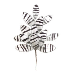 Silk Plants Direct - Silk Plants Direct Glitter Animal Print Leaf (Pack of 24) - White - Pack of 24. Silk Plants Direct specializes in manufacturing, design and supply of the most life-like, premium quality artificial plants, trees, flowers, arrangements, topiaries and containers for home, office and commercial use. Our Glitter Animal Print Leaf includes the following: