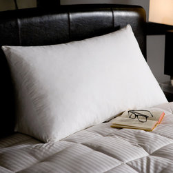 None - White Goose Down and Feather Reading Wedge Pillow - Nothing beats a good reading wedge for proper upright reading in bed or on the floor. This wedge pillow is made with durable,230-thread-count cotton twill weave fabric and overfilled with a 10/90 white goose down and feather blend.
