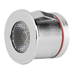 1 Watt High Power SMD LED Compact Recessed Light Fixture - Compact LED Recessed Light Fixture with 1 Watt High Power SMD LED. 12 Volt DC operation. Available in spot or flood beam pattern. Flush mounts in 1 inch hole using mounted retaining clips. Price for each.