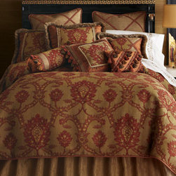 """Dian Austin Couture Home - Dian Austin Couture Home Siena Crisscross-Braid Pillow, 14"""" x 20"""" - In colors reflective of the Tuscan landscape, these bed linens by Dian Austin Couture Home® are a masterful mix of pattern and texture. Made in the USA of imported materials. Brilliantly patterned silk linens with luxurious trims are paired with...."""