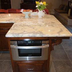 White Marble Kitchen -