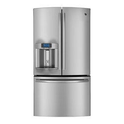 GE Profile Series ENERGY STAR 28.6 Cu. Ft. French-Door Refrigerator (model # PFE - Features: