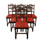 EuroLux Home - 6 Consigned Antique Dining Chairs 1920 French - Product Details