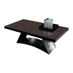 Rossetto - Nightfly Coffee Table in Ebony by Rossetto USA - Features: