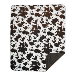 Throw Blanket Denali Brown Cow/Taupe - Denali micro plush throws are considered the Cadillac of throws due to their rich colors and soft feel. These throws are softer and warmer than fleece.