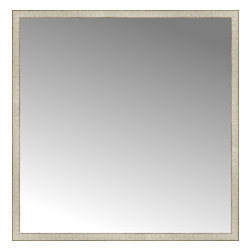 """Posters 2 Prints, LLC - 57"""" x 58"""" Libretto Antique Silver Custom Framed Mirror - 57"""" x 58"""" Custom Framed Mirror made by Posters 2 Prints. Standard glass with unrivaled selection of crafted mirror frames.  Protected with category II safety backing to keep glass fragments together should the mirror be accidentally broken.  Safe arrival guaranteed.  Made in the United States of America"""