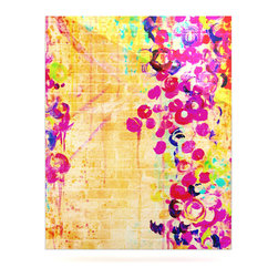 """Kess InHouse - Ebi Emporium """"Wall Flowers"""" Metal Luxe Panel (16"""" x 20"""") - Our luxe KESS InHouse art panels are the perfect addition to your super fab living room, dining room, bedroom or bathroom. Heck, we have customers that have them in their sunrooms. These items are the art equivalent to flat screens. They offer a bright splash of color in a sleek and elegant way. They are available in square and rectangle sizes. Comes with a shadow mount for an even sleeker finish. By infusing the dyes of the artwork directly onto specially coated metal panels, the artwork is extremely durable and will showcase the exceptional detail. Use them together to make large art installations or showcase them individually. Our KESS InHouse Art Panels will jump off your walls. We can't wait to see what our interior design savvy clients will come up with next."""