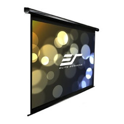 """Elitescreens - 150""""Electric Screen - 150"""" diagonal 16:9 spectrum electric screen with the Max White screen material and black colored housing that mounts flush to the wall as a standard. Item ships standard with an IR remote low voltage 3 way wall switch and 12v trigger cable."""