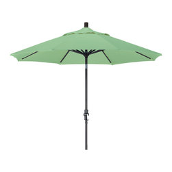 California Umbrella - 9 Foot Pacifica Aluminum Crank Lift Collar Tilt Patio Umbrella, Black Pole - California Umbrella, Inc. has been producing high quality patio umbrellas and frames for over 50-years. The California Umbrella trademark is immediately recognized for its standard in engineering and innovation among all brands in the United States. As a leader in the industry, they strive to provide you with products and service that will satisfy even the most demanding consumers.