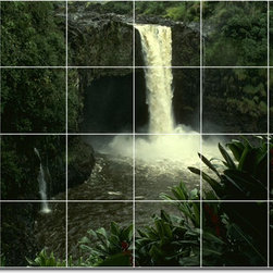 Picture-Tiles, LLC - Waterfalls Photo Bathroom Tile Mural 26 - * MURAL SIZE: 48x72 inch tile mural using (24) 12x12 ceramic tiles-satin finish.