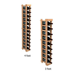 """Winemaker Series Individual Bottle Kit - 1 Column - Each wine bottle stored on this one column individual bottle wine rack is individually cradled. Purchase two to stack on top of each other to maximize the height of your wine storage. All Winemaker wine racks must be mounted 1 1/2"""" off the wall to ensure proper wine bottle stability, and will therefore add 1 /1/2"""" to the listed dimensions. Moldings and platforms sold separately. Assembly required."""
