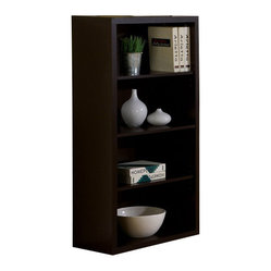Monarch Specialties 48 Inch Bookcase w/ Adjustable Shelves