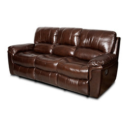 Hooker Furniture - Hooker Furniture Motion Sofa SS614-03-086 - Leather: Toro (Medium Brown)