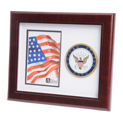 US Navy Portrait Picture Frame - 10-Inch by 12-Inch Military Portrait Picture Frame