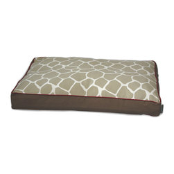 ez living home - Giraffe Memory Foam Topper Pillow Bed Khaki, Large - *Eye-catching yet subtle giraffe pattern; EZ to decorate with; Complements existing room decoration.