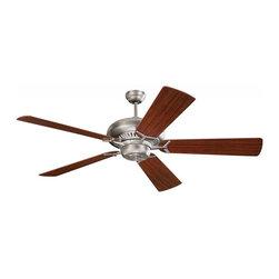 Monte Carlo - Grand Prix 60-Inch 5-Blade Ceiling Fan with Mahogany Blades - Grand Prix 60-Inch 5-Blade Ceiling Fan with Mahogany Blades