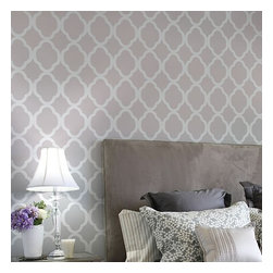 Cutting Edge Stencils - Rabat Moroccan Stencil Design - Reusable Stencils for DIY Wall Decor, Large - Try wall stencils instead of expensive wallpaper! Cutting Edge Stencils offers the best stencils for DIY décor - stencils expertly designed by professional decorative painters Janna Makaeva and Greg Swisher who have over 20 years of painting experience. We are a reputable stencil company that stands behind its high quality product. We are honored to have your 100% positive feedback.